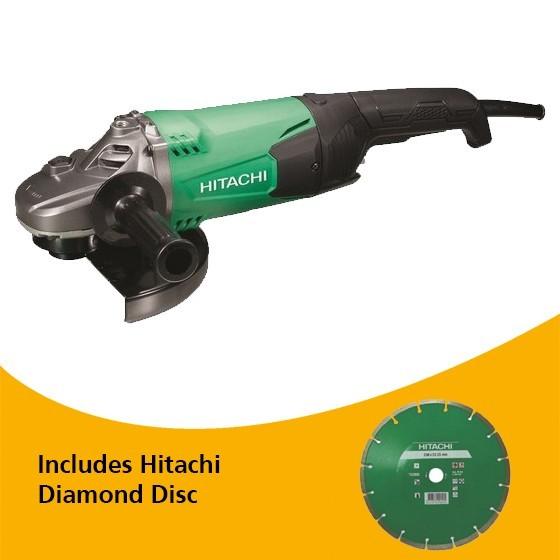 Image of HITACHI G23ST 230MM ANGLE GRINDER 240V