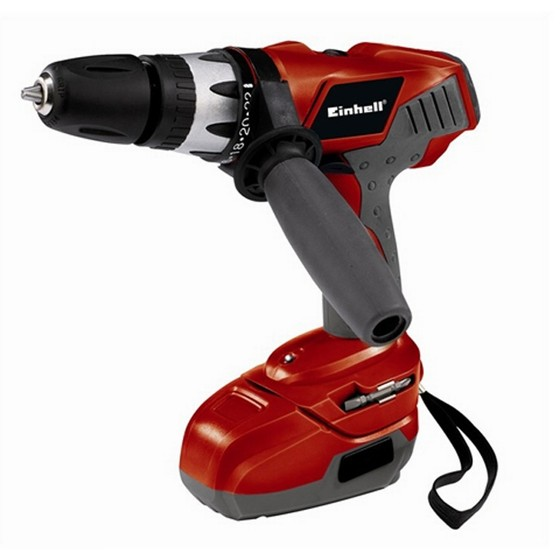 Image of EINHELL TECD 18 LI POWER XCHANGE 18V COMBI HAMMER DRILL RED
