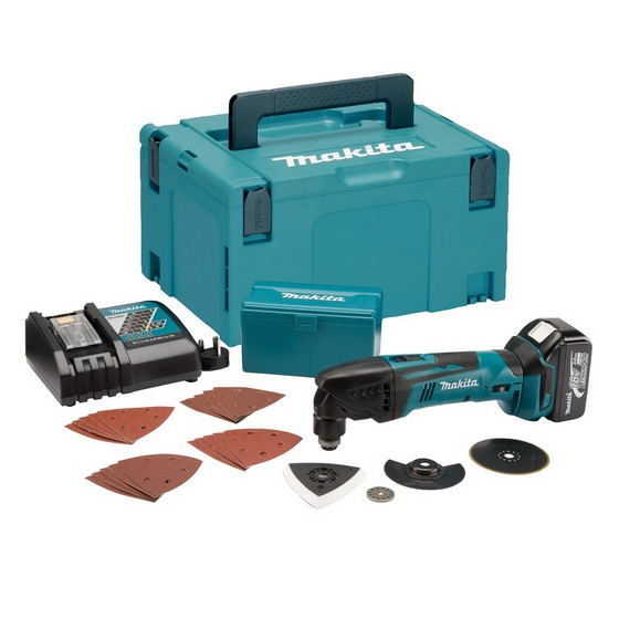 MAKITA DTM50RM1J1 18V MULTI TOOL WITH 4.0AH LI-ION BATTERY + 24 ACCESSORIES