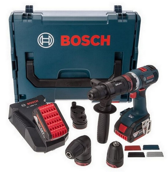 Image of BOSCH GSR18VEC FC2 18V 5IN1 FLEXI DRILL WITH 2X 40AH LIION BATTERIES