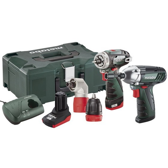 METABO POWERMAXX 108V BS QUICK & SSD COMBO SET WITH 1X 20AH & 1X40AH LIION BATTERIES