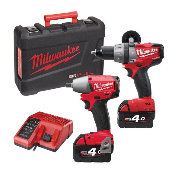 MILWAUKEE M18 PP2B-402C 18V TWIN PACK WITH 2X 4.0AH LI-ION BATTERIES