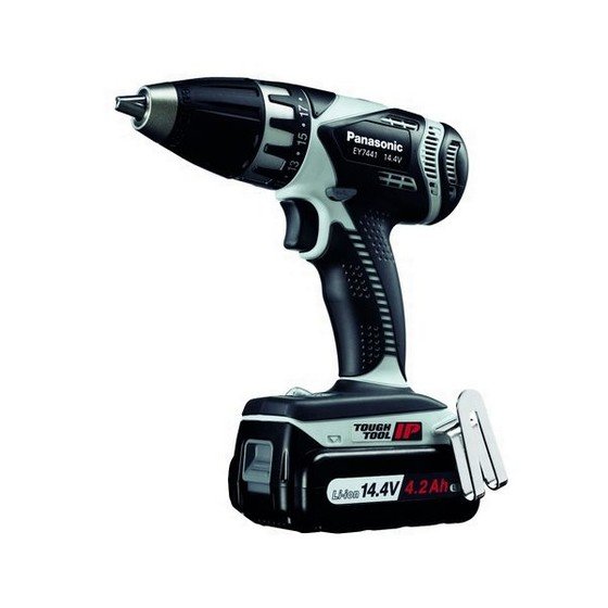 PANASONIC EY7441LS2S31 144V DRILL DRIVER WITH 2X 42AH LIION BATTERIES