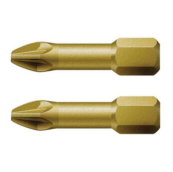 Saw Accessories WERA WER073370 POZI SCREWDRIVER BITS PZ1X25MM PACK OF 2
