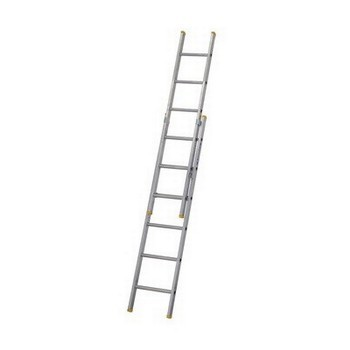 WERNER 72218 722 SERIES ALUMINIUM BOX SECTION DOUBLE EXTENSION LADDER 18M