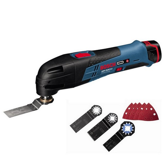 bosch multi tool with 2x li ion batteries. Black Bedroom Furniture Sets. Home Design Ideas