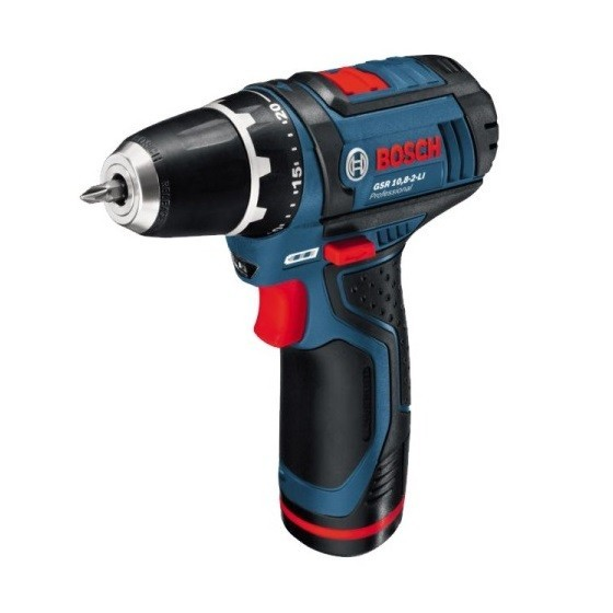 BOSCH GSR10.8-2-LI 10.8V DRILL DRIVER WITH 1X 2.0AH LI-ION BATTERY