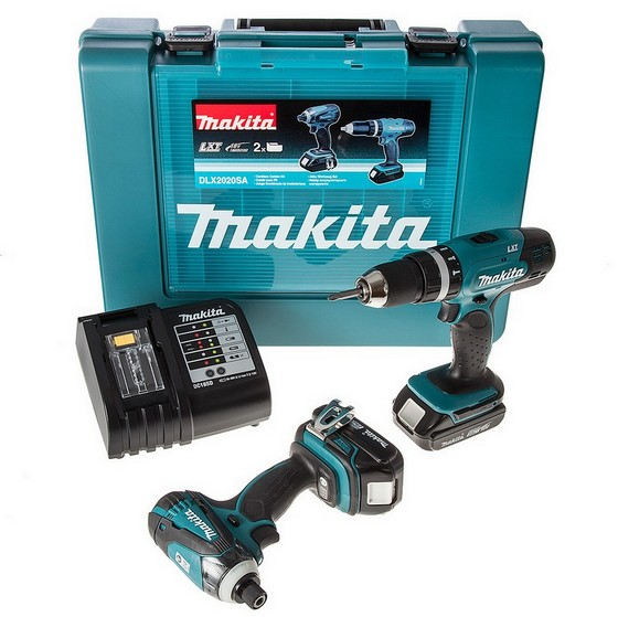 MAKITA DLX2020SA 18V TWIN PACK WITH 2X 2.0AH LI-ION BATTERIES