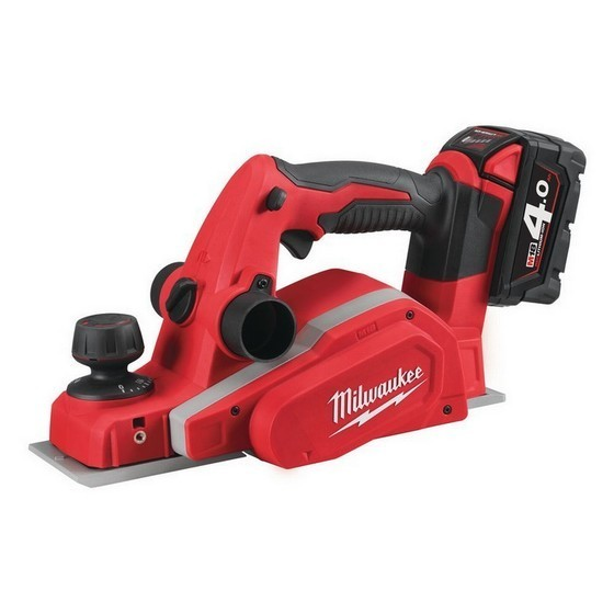 Image of MILWAUKEE M18BP402C 18V PLANER WITH 2X 40AH LIION BATTERIES