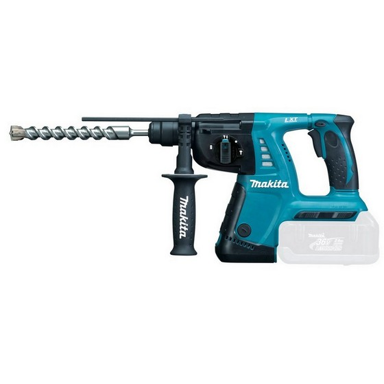 Image of Makita Bhr262z 36v Cordless Liion 26mm Rotary Hammer Drill Body Only