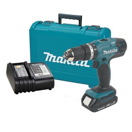 makita dhp453sy 18v combi hammer drill with li ion. Black Bedroom Furniture Sets. Home Design Ideas