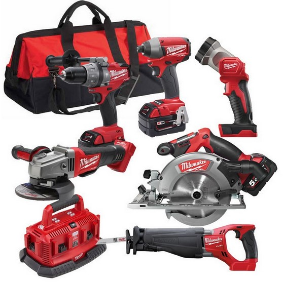 MILWAUKEE M18CPP6B-503 18V FUEL 6 PIECE KIT WITH 3X 5.0AH LI-ION BATTERIES