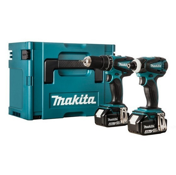 MAKITA DLX2012MJ COMBI & IMPACT DRIVER TWIN PACK WITH 2X 4.0AH LI-ION BATTERIES