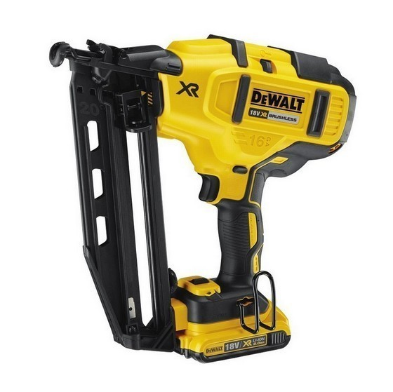 Image of DEWALT DCN660D2 18V XR BRUSHLESS 2ND FIX NAILER WITH 2X 20AH LIION BATTERIES