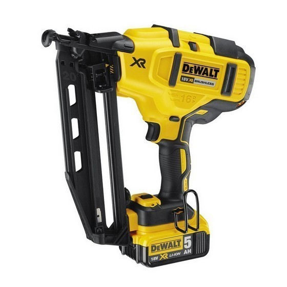 Image of Dewalt Dcn660p2 18v Xr Brushless 2nd Fix Nailer With 2x 50ah Liion Batteries