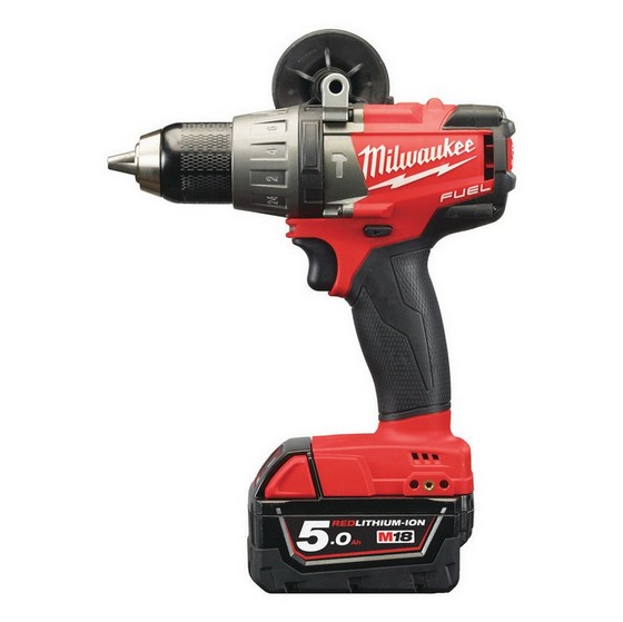 MILWAUKEE M18FPD-502X 18V BRUSHLESS FUEL 2 COMBI HAMMER DRILL WITH 2X 5.0AH LI-ION BATTERIES