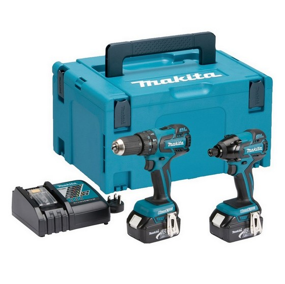 MAKITA DLX2007MJ 18V BRUSHLESS COMBI DRILL AND IMPACT DRIVER TWIN PACK WITH 2X 4.0AH LI-ION BATTERIES