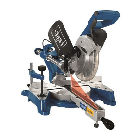 SCHEPPACH MSS8DB 8 INCH DOUBLE BEVEL SLIDING MITRE SAW 240V