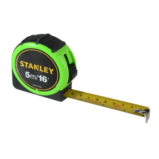 Image of Stanley Hivis Tape Measure 5m 16ft