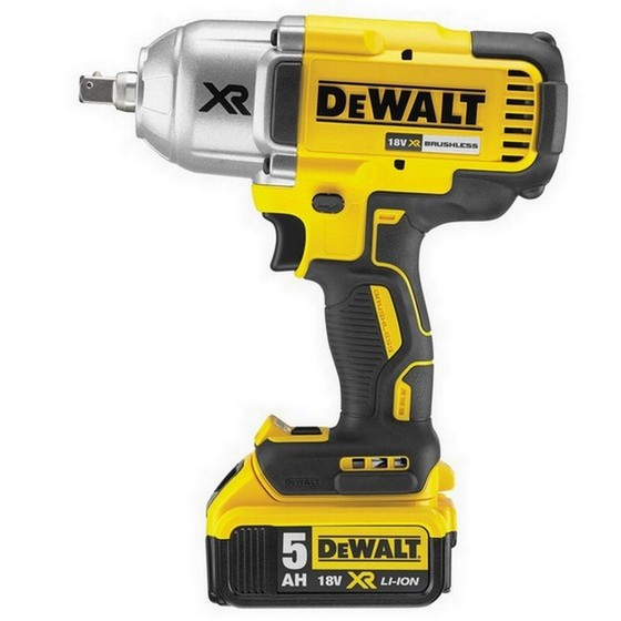 Image of DEWALT DCF899P2 18V HIGH TORQUE BRUSHLESS IMPACT WRENCH WITH 2X 50AH LIION BATTERIES