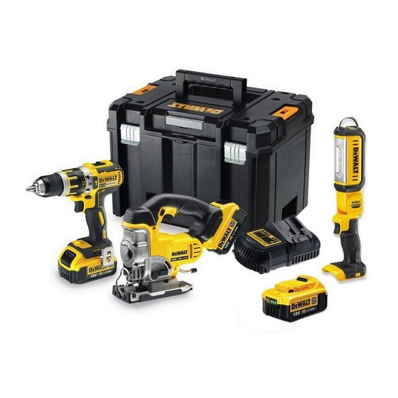 Image of DEWALT DCK364M3T 18V BRUSHLESS COMBI JIGSAW AND TORCH KIT WITH 3X 40AH LIION BATTERIES