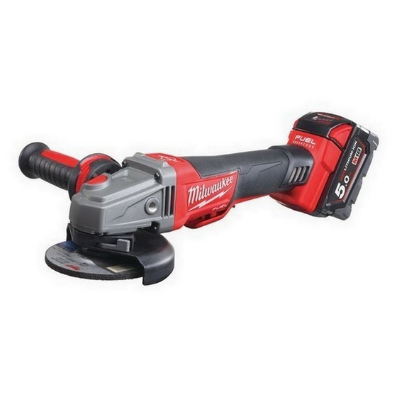 Image of MILWAUKEE M18CAG115XPDB502 FUEL ANGLE GRINDER WITH 2X 50AH LIION BATTERIES