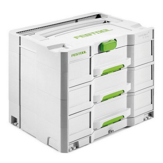 Image of FESTOOL 200119 SYS4 TLSORT3 3 DRAWER SYSTAINER