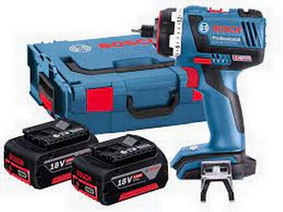 Image of BOSCH GSR18VEC FC2 DRILL DRIVER GFA CHUCK WITH 2X 40AH LIION BATTERIES