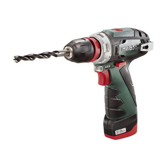 Image of Metabo 600157580 108v Powermaxx Bs Quick Pro Combi Drill With 1x 20ah And 1x 40ah Liion Batteries