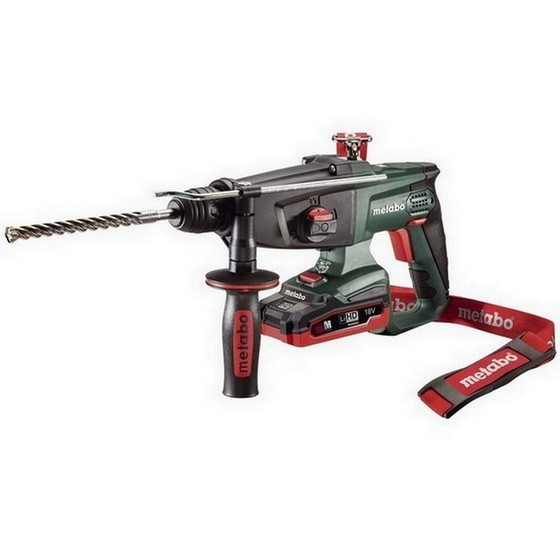 Image of METABO KHA18 LTX3F SDS HAMMER DRILL WITH 2X LiHD 31AH LIION BATTERIES