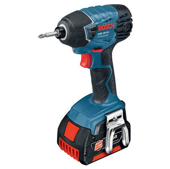 BOSCH GDR18V-LI 18V IMPACT DRIVER WITH 2X 5.0AH LI-ION BATTERIES SUPPLIED IN A TOOL BAG