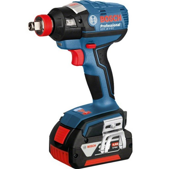 Image of BOSCH GDX18VEC 18V IMPACT DRIVER WRENCH WITH 2X 40AH LIION BATTERIES SUPPLIED IN LBOXX
