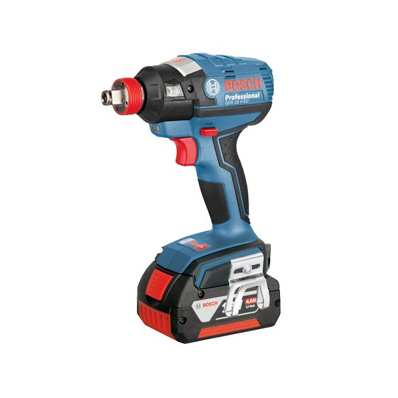 BOSCH GDX18V-EC 18V IMPACT DRIVER / WRENCH WITH 2X 6.0AH LI-ION BATTERIES SUPPLIED IN L-BOXX