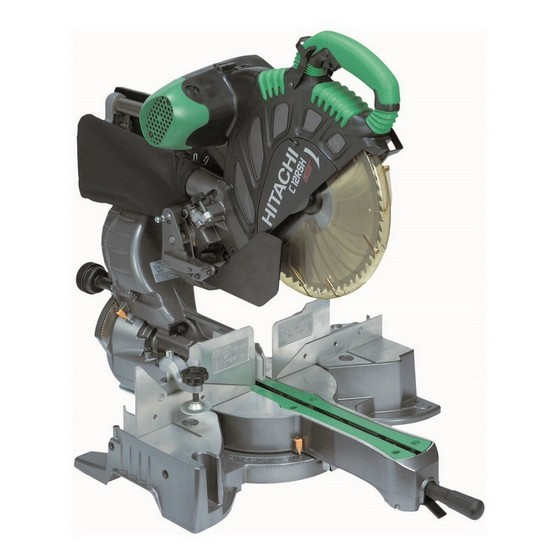 HITACHI C12RSH 305MM SLIDE COMPOUND MITRE SAW 240V