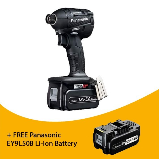 Image of Panasonic Ey75a7lj2g31 18v Brushless Impact Driver With 2x 50ah Liion Batteries