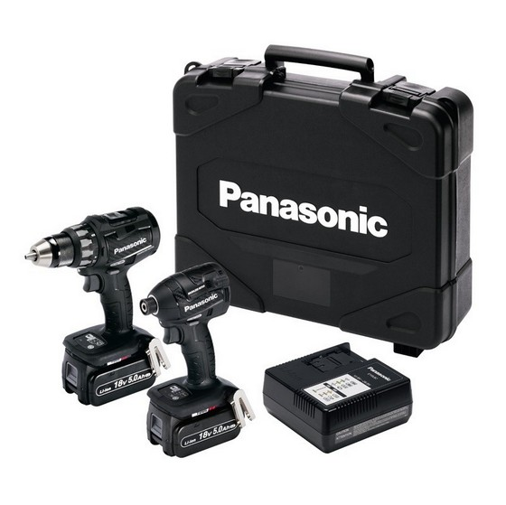 Image of PANASONIC EYC215LJ2G31 18V BRUSHLESS TWIN PACK WITH 2X 50AH LIION BATTERIES