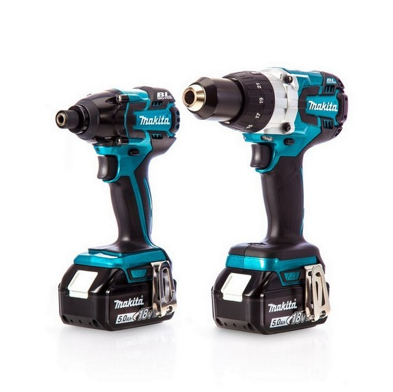 MAKITA DLX2040SP 18V ANNIVERSARY BRUSHLESS TWIN PACK WITH 2X 5.0AH LI-ION BATTERIES