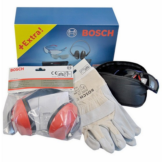 BOSCH 0615990ER3 SAFETY KIT WITH SAFETY GLASSES, GLOVES AND EAR DEFENDERS