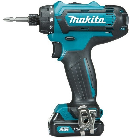 Image of MAKITA DF031DWAE 108V CXT HEX DRILL DRIVER WITH 2X 20AH LIION BATTERIES
