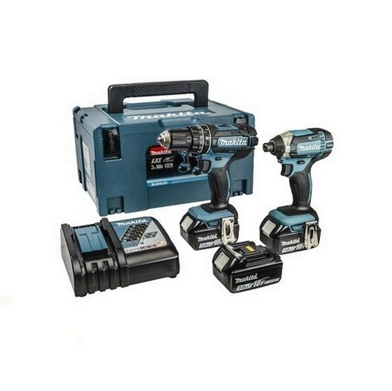 Image of MAKITA DLX2131JX1 18V COMBI & IMPACT DRIVER TWIN PACK WITH 3X 30AH LIION BATTERIES