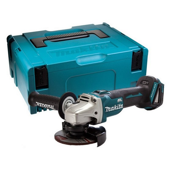 MAKITA DGA454ZJ1 18V BRUSHLESS ANGLE GRINDER (BODY ONLY) SUPPLIED IN MAKPAC CASE