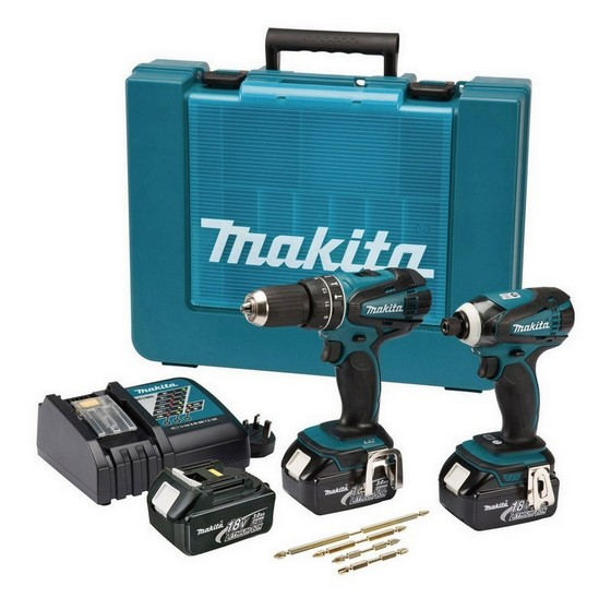 MAKITA DLX2012X2 18V COMBI & IMPACT DRIVER TWIN PACK WITH 3X 3.0AH LI-ION BATTERIES