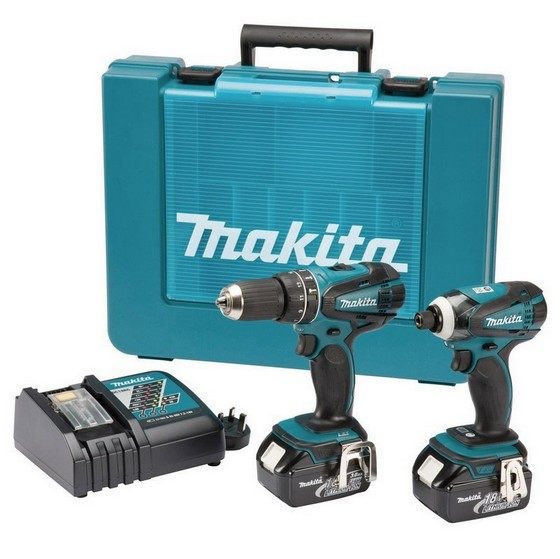 MAKITA DLX2012RFE 18V COMBI & IMPACT DRIVER TWIN PACK WITH 2X 3.0AH LI-ION BATTERIES