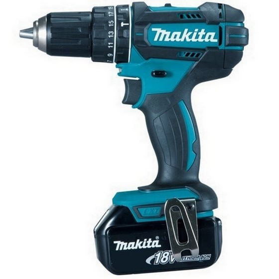 MAKITA DHP482RFJ 18V COMBI HAMMER DRILL WITH 2X 3.0AH LI-ION BATTERIES IN MAKPAC CASE