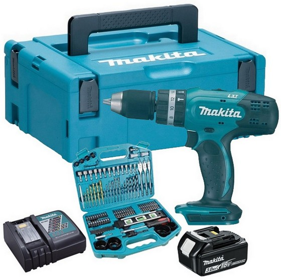 MAKITA DHP456RFE 18V COMBI DRILL WITH 2X 3.0AH LI-ION BATTERIES