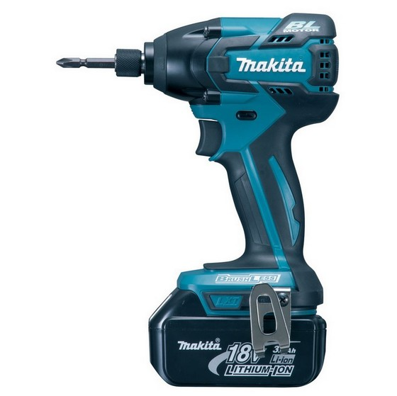 MAKITA DTD129RFE 18V BRUSHLESS IMPACT DRIVER WITH 2X 3.0AH BATTERIES