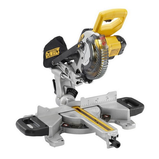 Image of DEWALT DCS365M2 18V XR CORDLESS MITRE SAW WITH 2X 40AH LIION BATTERIES