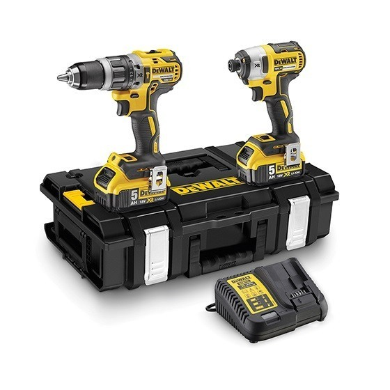 Image of DEWALT DCK266P2 18V BRUSHLESS TWIN PACK WITH 2X 50AH LIION BATTERIES IN TOUGHSYSTEM CASE