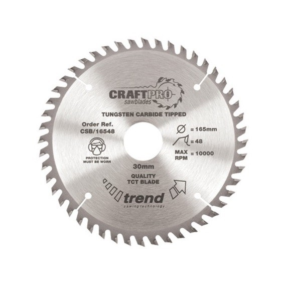 TREND CSB21048 MEDIUM FINISH TCT CIRCULAR SAW BLADE 48TX30X210MM