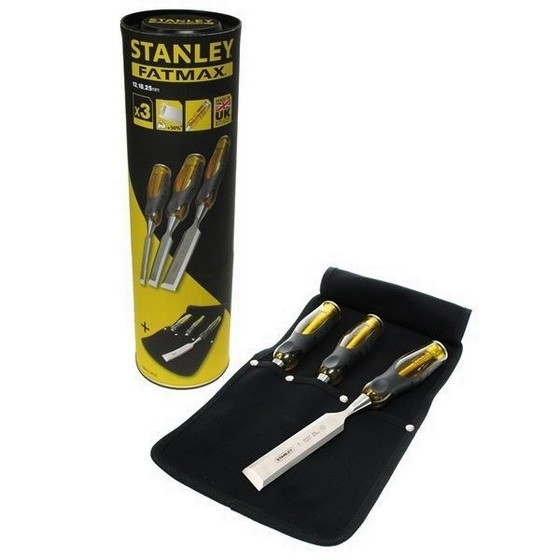 STANLEY STAFMTCSET1 3 PIECE FATMAX WOOD CHISEL SET 12-25MM